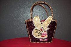 Child's Vintage Basket Purse
