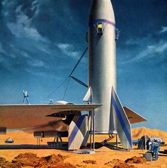 exploration of Mars / by Chesley Bonestell 1956