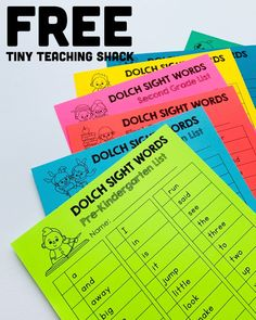 Home – Tiny Teaching Shack Free dolch sight word list to check your student's progress ❤ Dolch Sight Word List, Sight Word Flashcards, Sight Words List, Sight Word Activities, Phonics Activities, Kindergarten Writing, Teaching Reading, Teaching Ideas, Learning