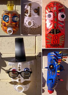 Masks made from recycled Jugs/Bottles