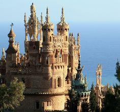 Colomares Castle, Benalmadena, Malaga, Costa del Sol, Spain