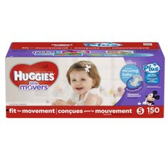Huggies® Little Movers Plus Diapers Size: 5; 150 Ct Features: 27+lbs, Double Grip Strips, Leak Lock