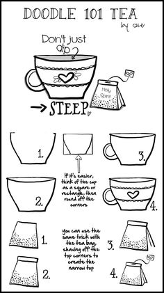 Doodle101:Teabag cup by Sue Carroll -- Steep in the Holy Spirit -- This is too cute!
