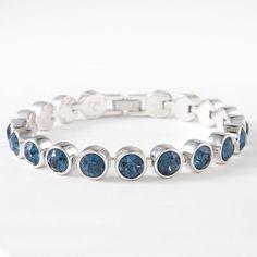 a9e64e8d3 Touchstone Crystal by Swarovski 4240BF Montana crystal ice bracelet;  rhodium plating; 7 1/