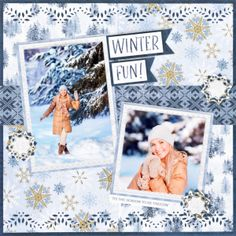 Scrapbook Layout Christmas Creative Memories - Make Your Photos Look Brrreathtaking with this Frost Winter Scrapbook Layout Recipe Scrapbook, Scrapbook Titles, Scrapbooking Layouts, Diy Scrapbook, Kids Craft Box, Bridal Shower Scrapbook, Old Greeting Cards, Photographs And Memories, Birthday Scrapbook