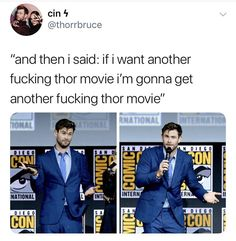 Hemsworth talking about how he just wanted to go back and watch Netflix after everyone else being able to lift the hammer was a mood. Marvel Dc, Marvel Actors, Marvel Heroes, Marvel Comics, Hammer Marvel, Marvel Jokes, Avengers Memes, The Avengers, Marvel Funny