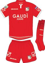 Carpi FC of Italy away kit for 2017-18.