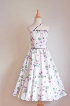 Vintage Cotton Sun Dress || Pretty Violets || 1970s does 50s!