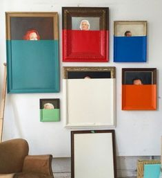 Put a modern spin on a thrift store find – Color-dipped art - Dipped-Dyed DIY: say that three times fast