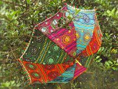 ♥ ~ ENCHANTING INDIAN ETHNIC PARASOL HIPPIE FESTIVAL BOHO GYSPY UMBRELLA ~ ♥