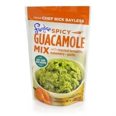 Frontera Spicy #Guacamole Mix with roasted tomatillo, habanero and garlic. Just add avocados! #RickBayless
