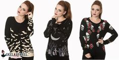 New Arrivals! Rockabilly Knit Cardigans and sweaters. Great X-mas gift for Rockabilly and Biker ladies! Extra long sleeves and length. Come check them out at