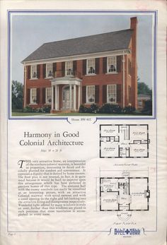 Homes of comfort : 74 designs of moderately priced homes : a varied selection of modern, artistic and practical homes. Cottage Floor Plans, House Floor Plans, Vintage House Plans, Vintage Homes, Cheap Tiny House, House Blueprints, Minecraft Blueprints, Sims 4 House Design, Architectural Prints