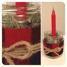 Recycled Jar Christmas Candle by Baker+Brown Co.