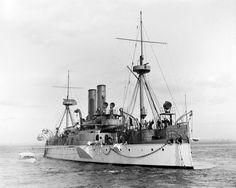 US Navy Vintage Battleship USS Maine 1897 glossy 8x10 photo photograph print b/w
