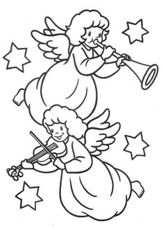 Risultati immagini per coro angelico da colorare