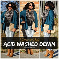 How to Style Acid Washed Denim | Skinny Jeans | Distressed Jeans