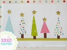 My washi tape: Targetas de Navidad