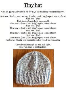 Baby Cardigan Knitting Pattern Free, Baby Hats Knitting, Baby Knitting Patterns, Knitting Stitches, Free Knitting, Knitted Dolls, Knitted Hats, Knitted Slippers, Crochet Hats