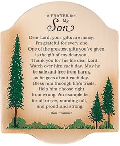 Praying for son | Prayer For My Son Inspirational Christian Plaque Para mi hijo Adrian ayala