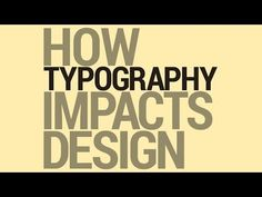 It talks about the interplay of design and typography, and a few ways to think about how they work together.