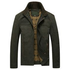 Outdoor Thicken Inside Fleece Multi-Pocket Epualets Motorcycle PU Leather Jacket for Men is Stylish-NewChic Mobile