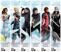 Final Fantasy Crisis Core..they are popular among gamers..including me..lol