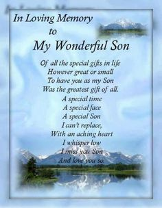 I Miss You My Son | My Son : I Miss Those Who Are Close To Me But Now Angels Story ...