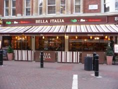 Bella Italia, Italian restaurants in London, seems to be one on every other street!!