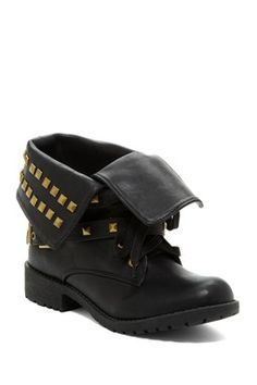 Evelyn Studded Combat Boot