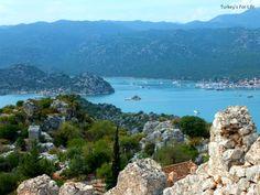 Üçağız From Simena Castle - this was one of the stops on our #GuletVoyage