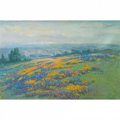 """Lot 21: William Franklin Jackson (1850-1936), American CALIFORNIA FIELD POPPIES; Oil on canvas; signed lower right, titled to the stretcher20.25"""" x 30"""" - 51.4 x 76.2 cm.Provenance: Private Collection by descent to the present owner, OntarioNote: In 1863, - Waddington's 