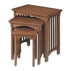 """Powell """"Mission Oak"""" 3-Piece Nested Tables"""
