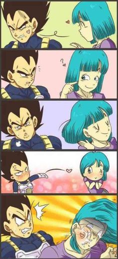 Vegeta's love is too strong for you, Bulma.