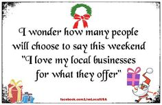You decide where to spend this weekend: locally-owned or corporate chain? Our independents are counting on us.        #thinklocal #goindie #shopsmall