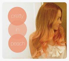 Lauren Conrad & Peach Tips! So cute!