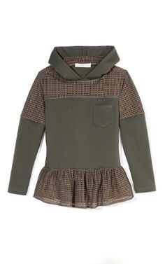 Shop Hooded Top by Thakoon Addition Now Available on Moda Operandi