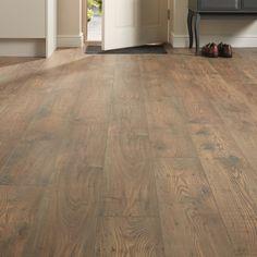 Pair our Professional fast fit V groove rustic chestnut oak laminate flooring with modern styling. Laminate Flooring Colors, Linoleum Flooring, Kitchen Flooring, Hardwood Floors, Flooring Options, Plastic Wood Decking, Chestnut Oak, Composite Flooring, Damp Proofing