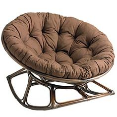 Rockasan Chair from Pier 1 Imports. This chair is SO comfortable & has different cushion upholstery options.
