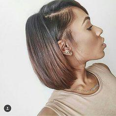 Enjoyable Plum Lipstick Bobs And Summer Hair On Pinterest Short Hairstyles For Black Women Fulllsitofus