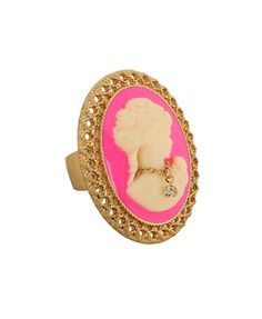 $3.80 Forever 21 Hot Pink Cameo Ring.