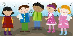 Children choir vector Royalty Free Stock Photos