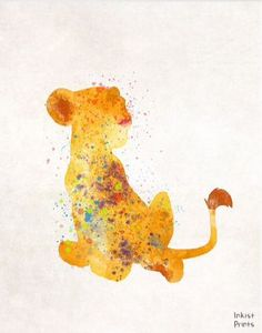 I absolutely LOVE this painting of simba! (all credit goes to rightful owner)