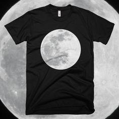 Moon - Unisex Black T-Shirt