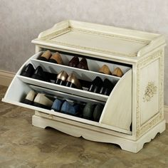 Furniture Furniture Wonderful Shoe Storage Bench Ivory Finish Wooden Material Three Tier Decorative Design Classic Style Entryway Furniture Home Decor Ideas Enchanting Utility Shoe Rack And Enchanting Utility Shoe Rack And Storage Cabinet
