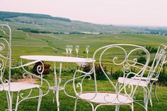 Hard to leave this place, after an afternoon tasting vintage champagne overlooking endless vineyards.