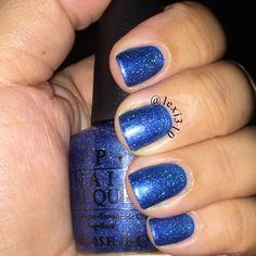 Such a sexy color OPI Blue Chips