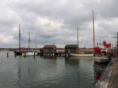 Boote im Hafen von Gager (c) Aquarell von Frank Koebsch | Boote und Schiffe im Hafen von Gager (c) FRank Koebsch (2)