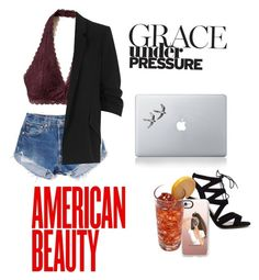 """""""American Beauty ❤️❤️"""" by fashionatitsgreatest ❤ liked on Polyvore featuring Levi's, Hollister Co., River Island, Vinyl Revolution and Casetify"""