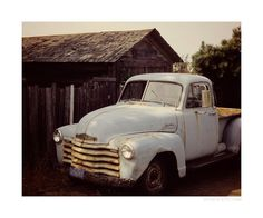 old white truck #oldtrucks